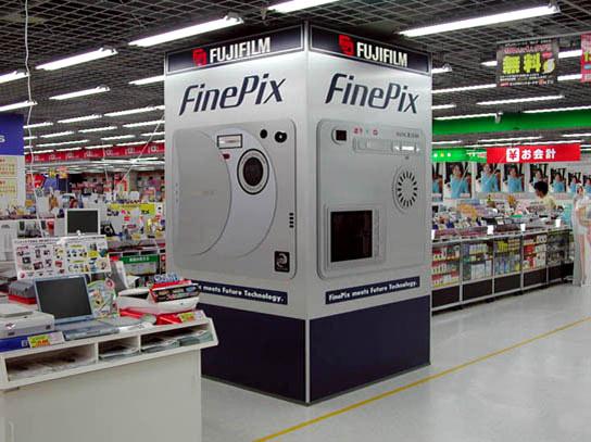 ビックカメラ札幌店:柱装飾