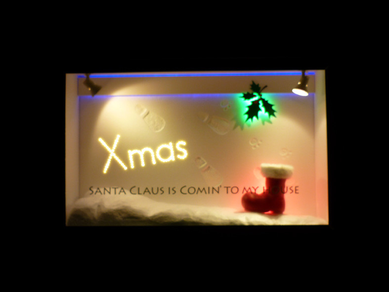 弊社ウインドウ-クリスマス