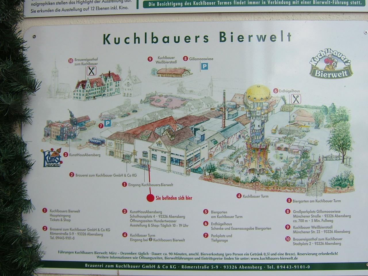 Start zur Brauereibesichtigung Kuchlbauer