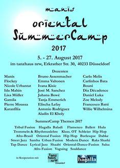 BOLLYWOOD WORKSHOP MIT KARANFILIA BEIM ORIENTAL SUMMER CAMP 2017 ORGANISIERT ON MANIS SJAHROEDDIN IM TANZHAUS NRW