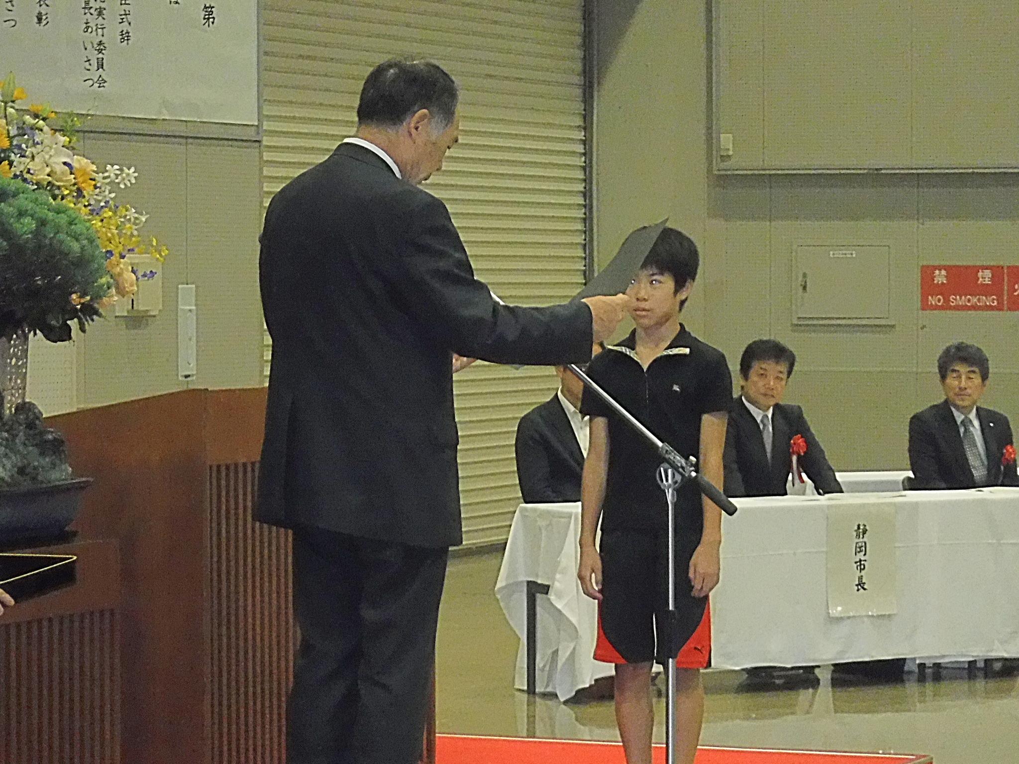 サバンナ港賞:五泉・ジョージア州港湾局(USA)元日本代表部顧問から授与