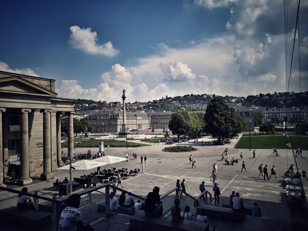 Blick auf den Schlossplatz