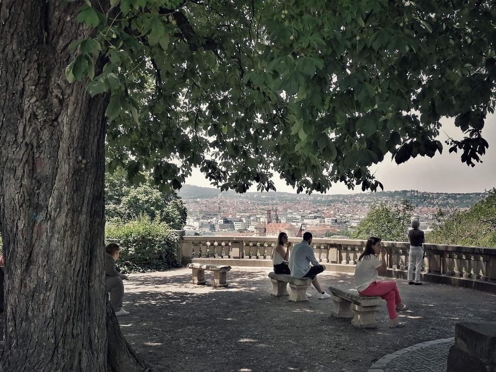 Eugensplatz am oberen Ende der Eugensstaffel