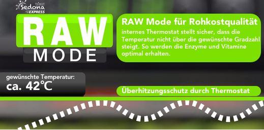 sedona express raw modus programm