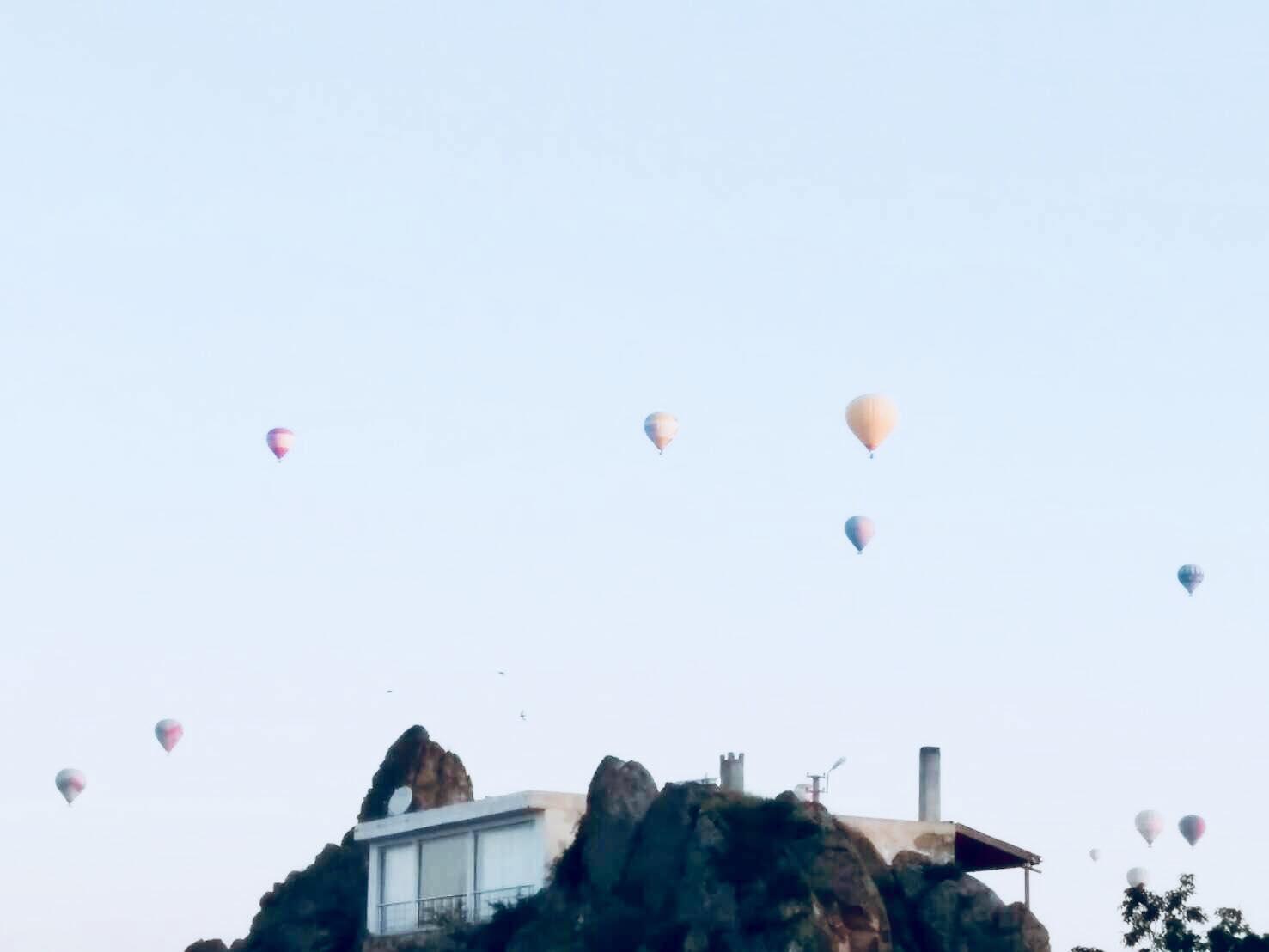 カッパドキアの気球ツアー(乗ってません笑)