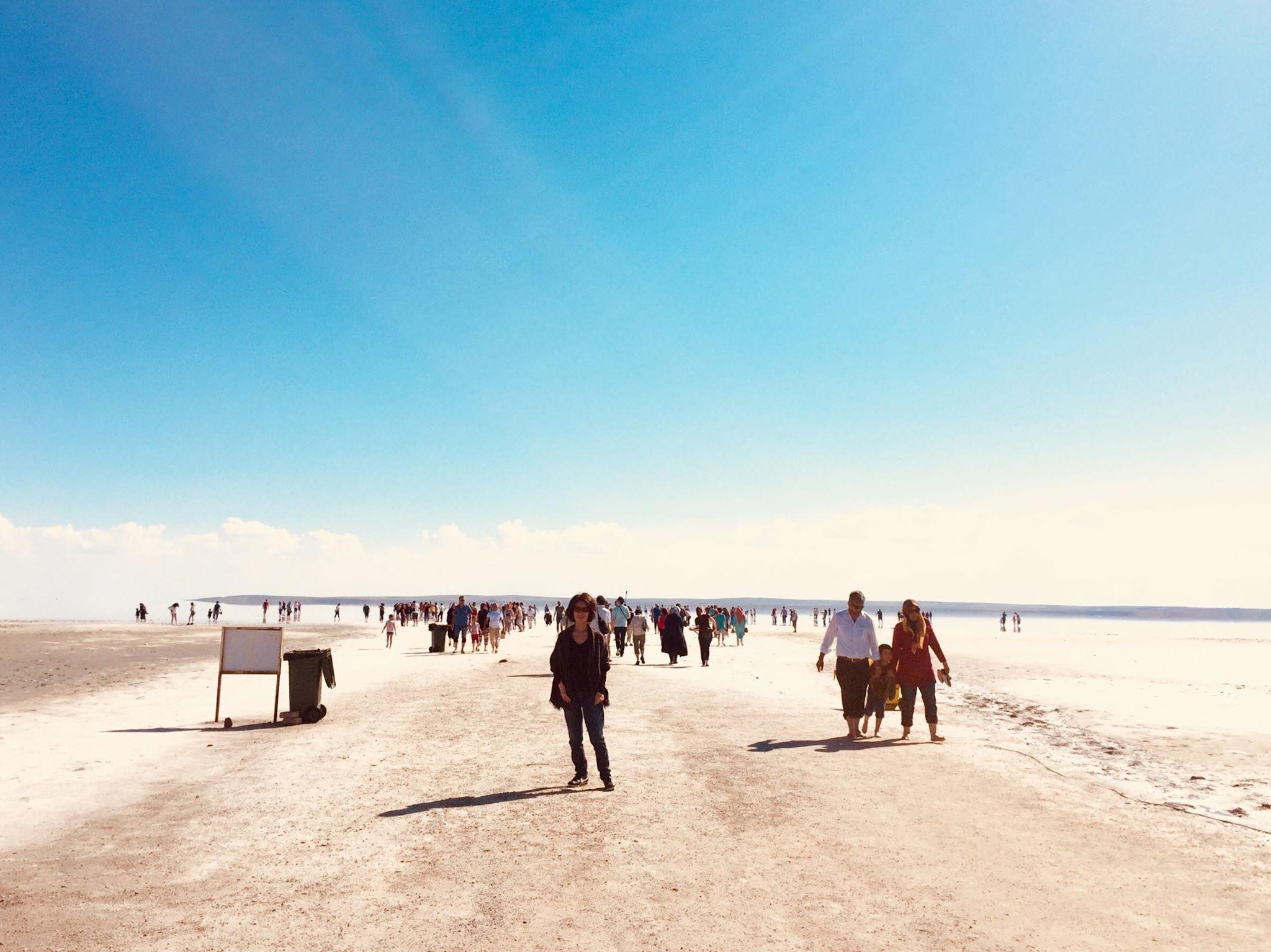 トルコ最大の塩湖:トゥズ湖