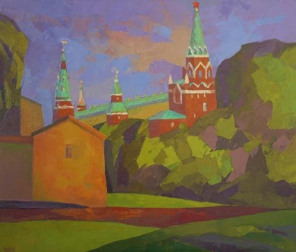 Москва, виды Москвы, кремлёвские башни, Мария Богачева