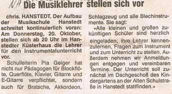 Nordheide Wochenblatt 12.10.1988