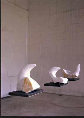 girls, carrara marmor, eisen, hängend