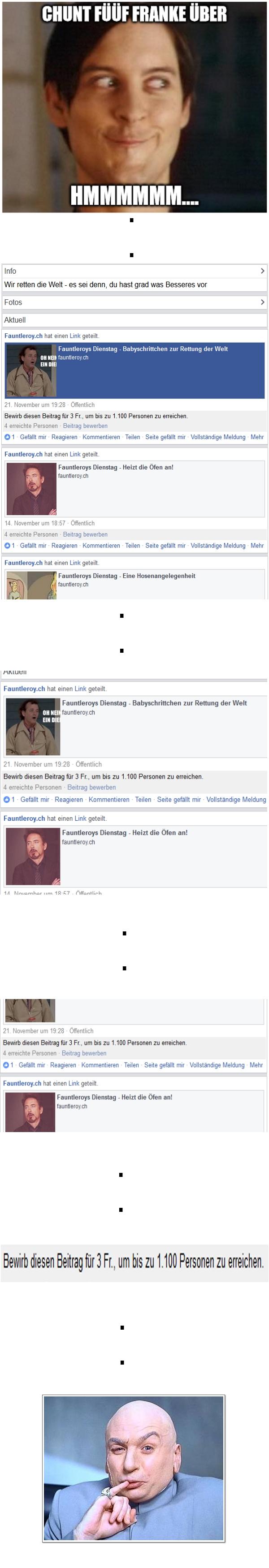 Fauntleroy Rettung der Menschheit Blog Facebook Werbung Spende
