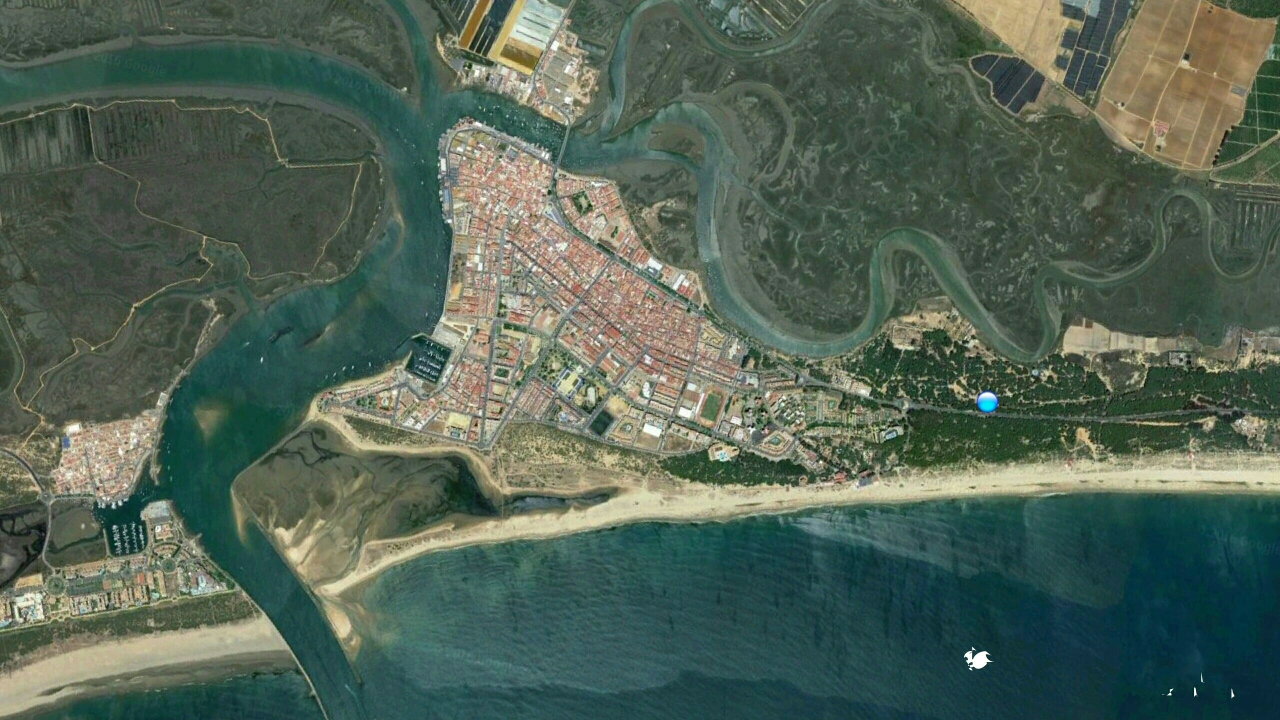 - Bild aus google earth | Campingplatz blauer Punkt