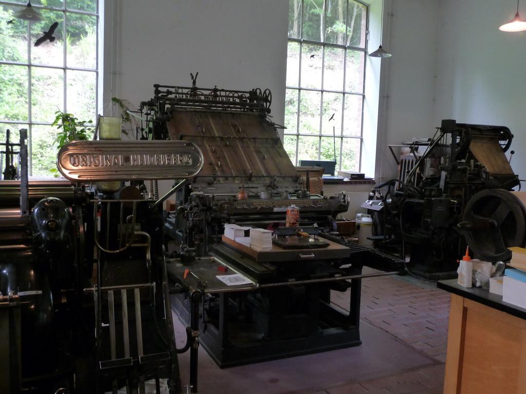 Druckerpresse einer Zeitungsredaktion