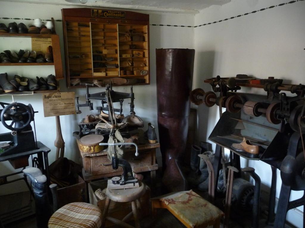 Werkstatt eines Schusters