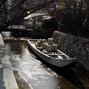 高瀬川と高瀬舟の写真