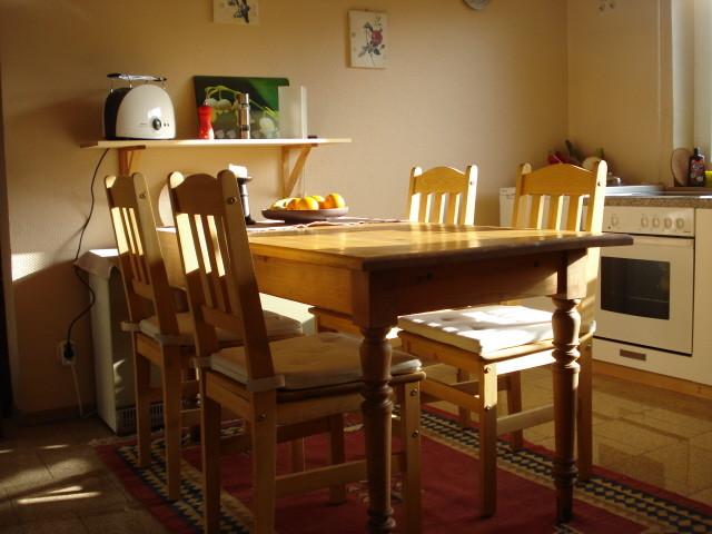 Der Essplatz in der Küche