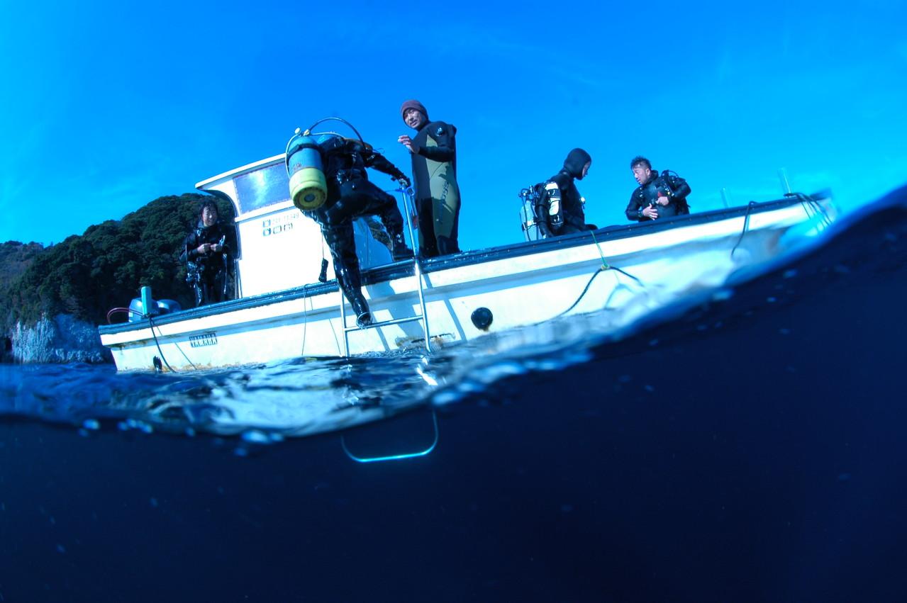 北川(ほっかわ)でのダイビングはボート!