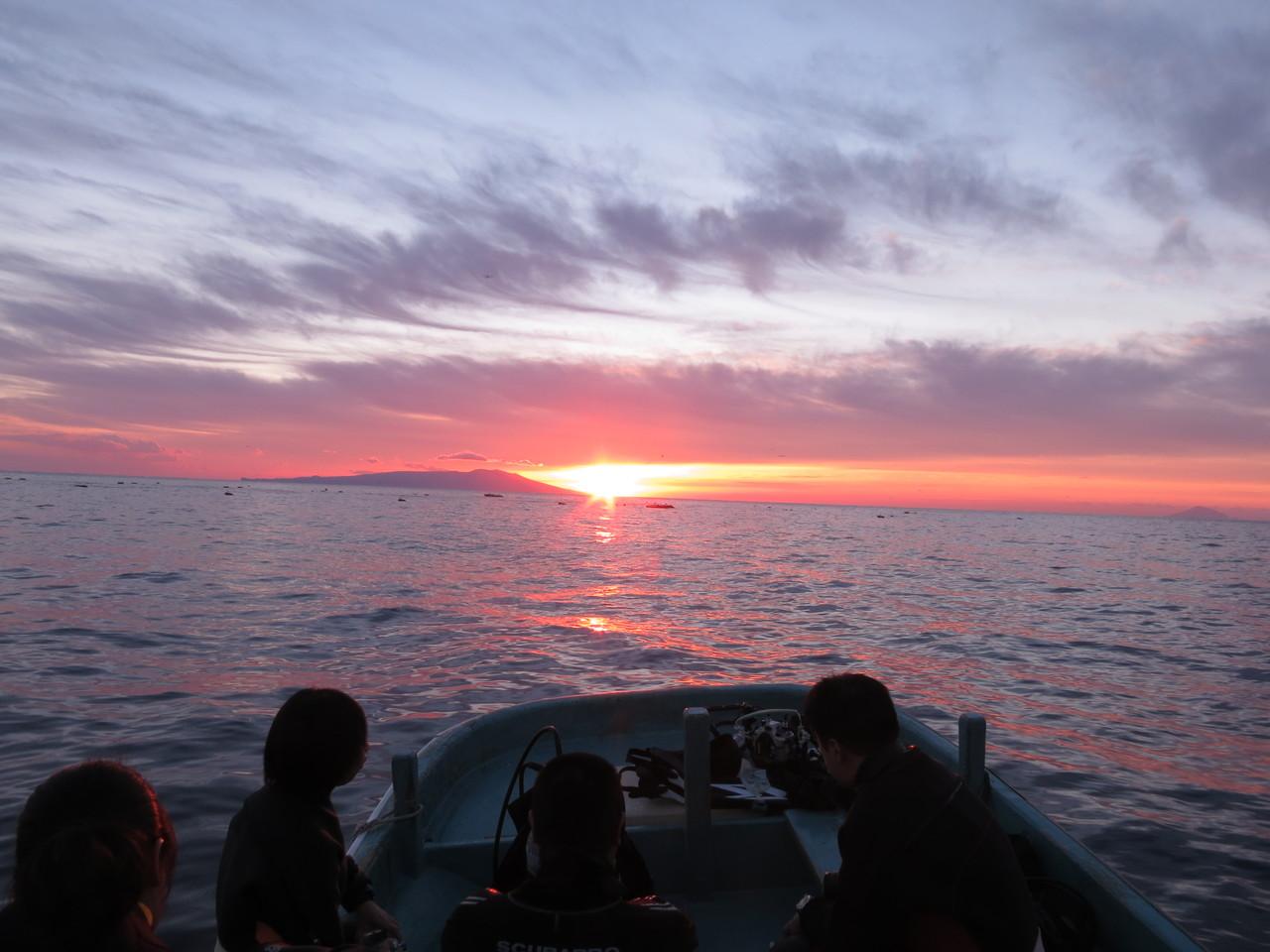 水平線からの初日の出