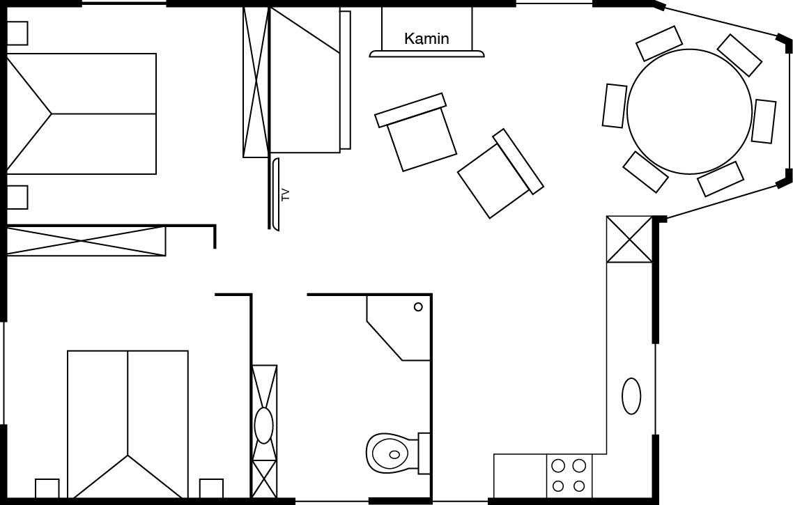 Grundrissplan Casa Appenzell