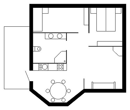 Grundriss Casa Basilea