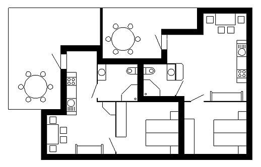 Grundrissplan Casa Grischnun 1 & 2