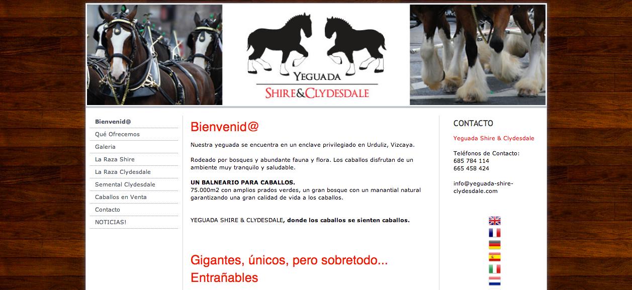 WEB yeguada - www.yeguada-shire-cluydesdale.com