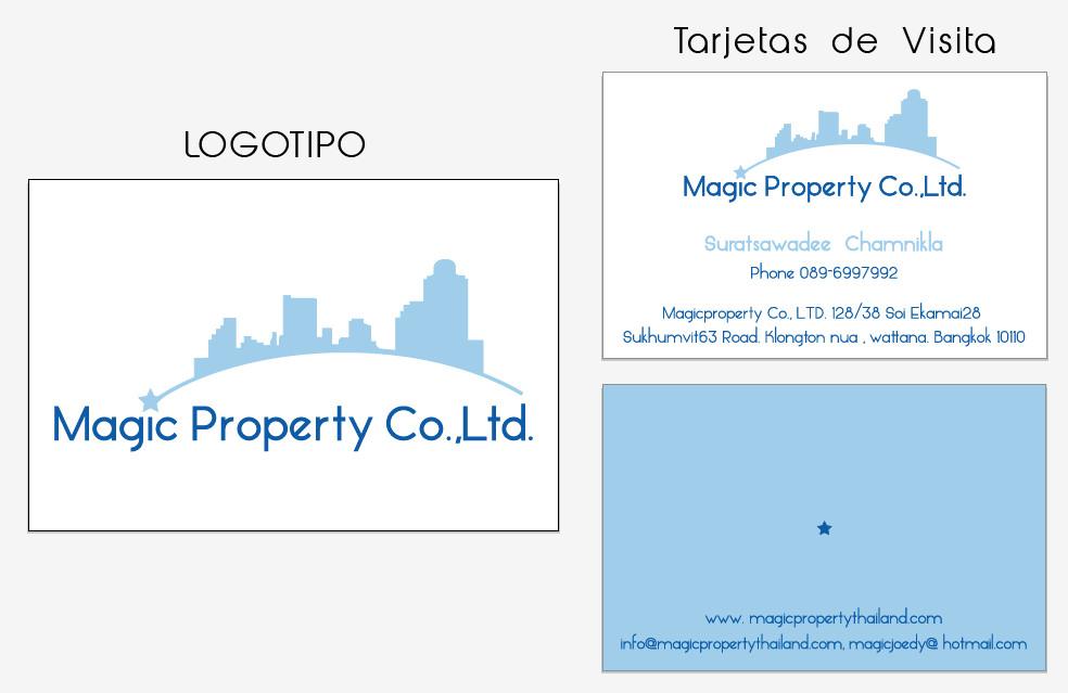 Creación de logotipo + Diseño de Tarjeta de visita para agencia inmobiliaria en Indonesia.