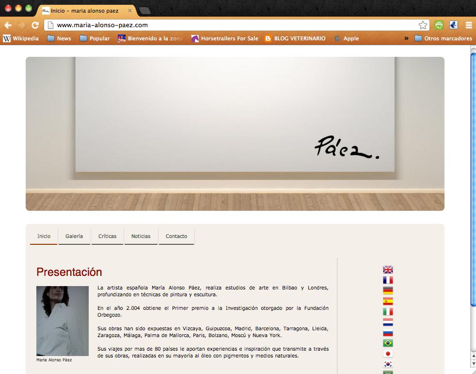 WEB artista pintora Maria Alonso Paez