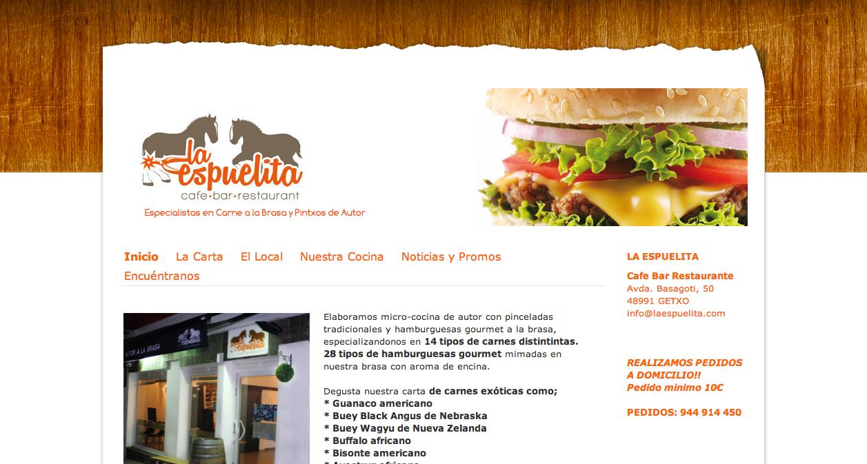 WEB restaurante - www.laespuelita.com