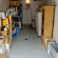 Entrümpelte Garage