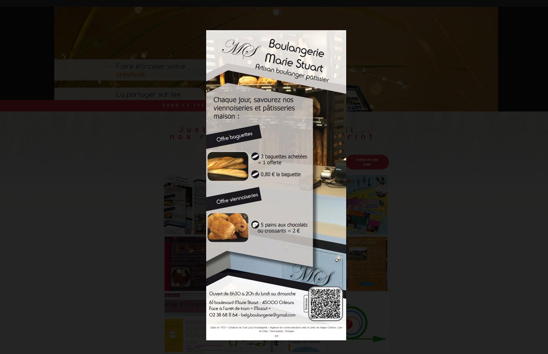 Création de flyers pour une boulangerie ©Dans le 1000, agence de communication web et print à Lassay-sur-Croisne