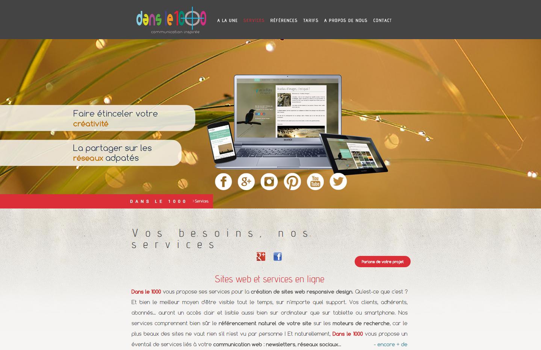 Dans le 1000, agence de communication web et print à Lassay-sur-Croisne - création de sites web, logos, cartes de visite, flyers... tous supports de communication