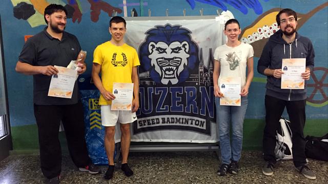 Podest Einzel Luzern Open 2020: Remo Bivetti (2.), Stefan Zedi (1.), Nicola Wurz (3.), Christian Ehrbar (3.) (v.l.n.r.)