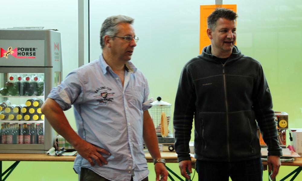 Dani und SSB-Präsident Michael Stampfli: Danke euch und den Gekkos-HelferInnen für die Bewirtschaftung