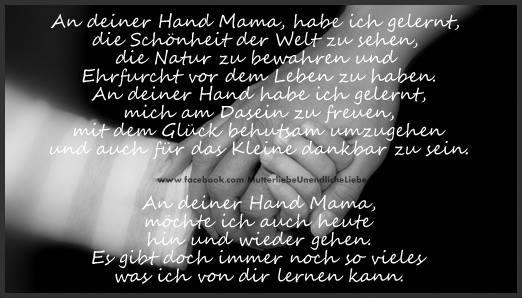 meine Mama war mir in vielem ein Vorbild: so will ich es nicht machen. Trotzdem bin ich dem Schicksal dankbar für meine Mutter.