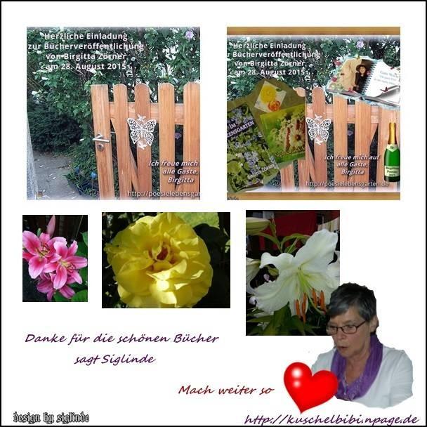 Siglinde und ihre beiden Lieblinge bringen uns herrliche Blumen.