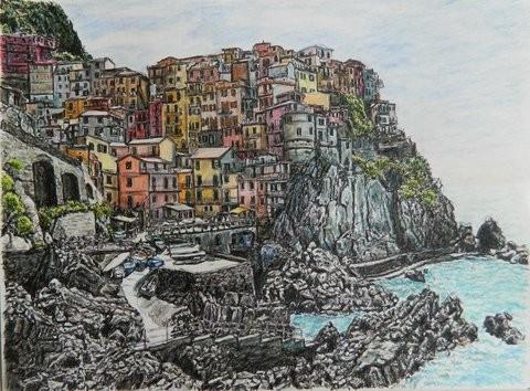 """""""Le Cinque Terre"""" by Helen Bar-Lev, Israel"""