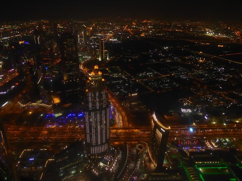 Blick vom 125 Stock auf Dubai