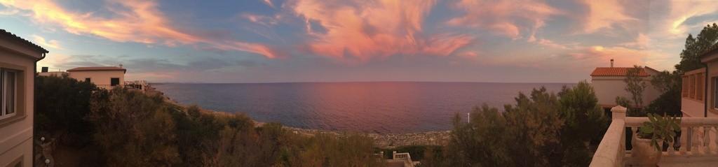 So hat uns der Himmel über Cala Murada empfangen