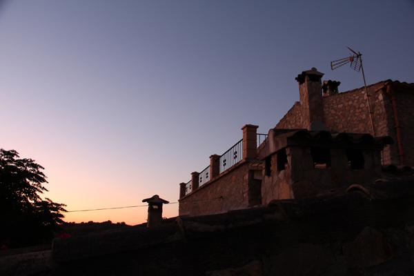 Unsere Finca im Sonnenuntergang