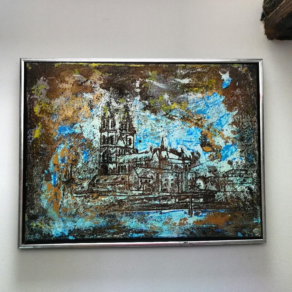 80×60cm Dom Blick oil/acryl