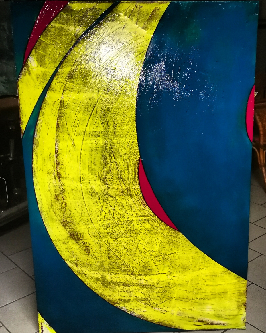 Andy's Banane 150×100cm oil/acryl