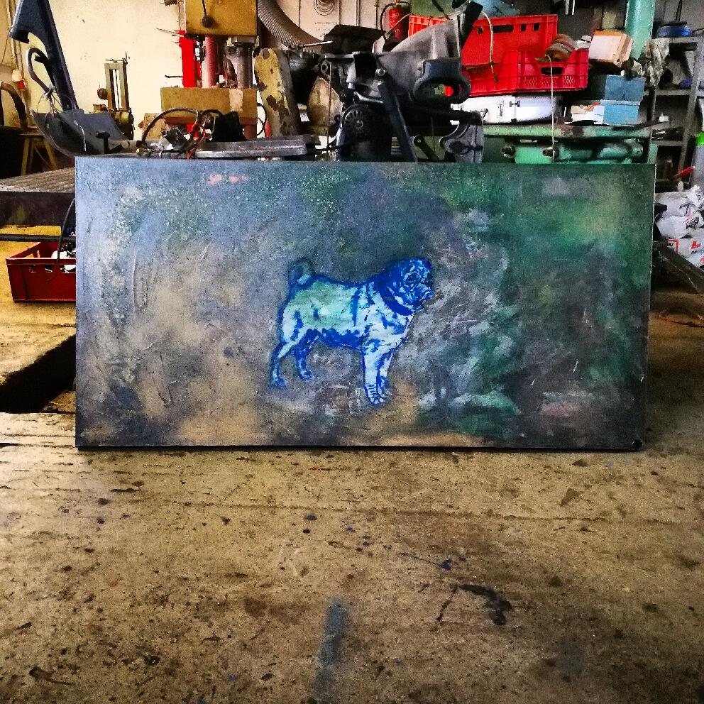 Goethe 170cm × 70cm Acryl/Oil