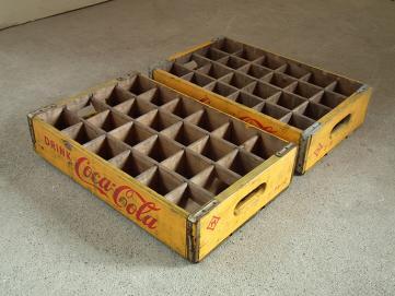 『コカコーラ木製木箱2つ 』 【状態】中古 【買取参考価格】¥500