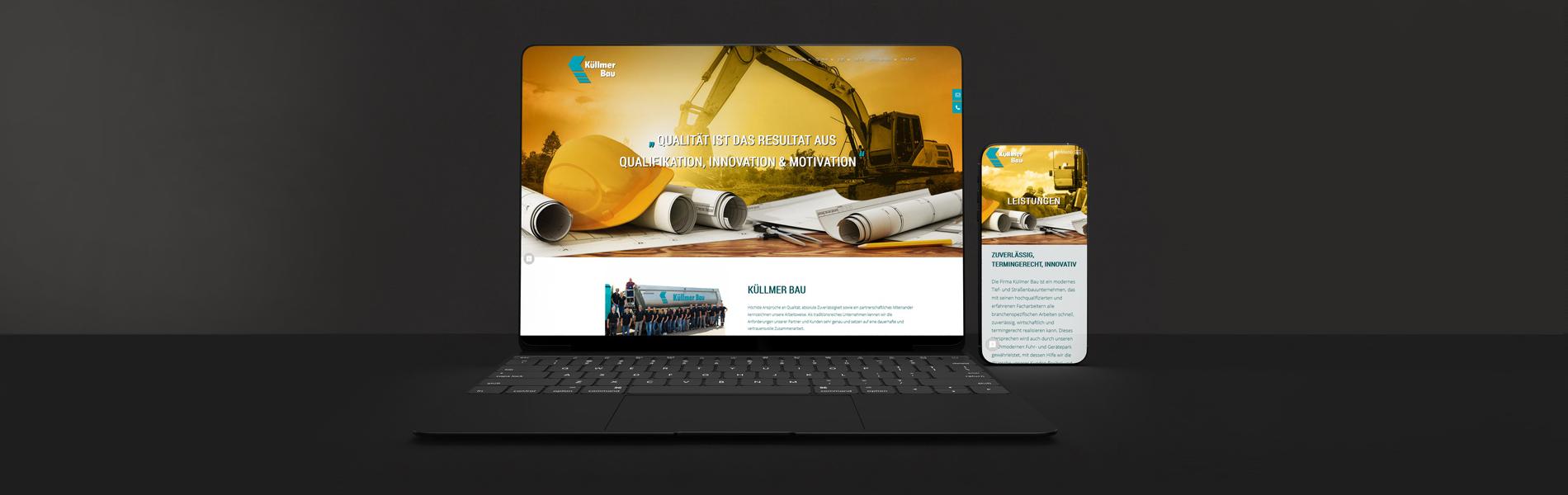 Neuentwicklung Website: Küllmer Bau