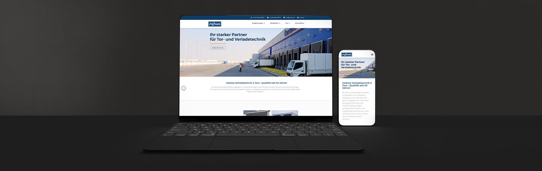 Neuentwicklung Website: mehwa.de