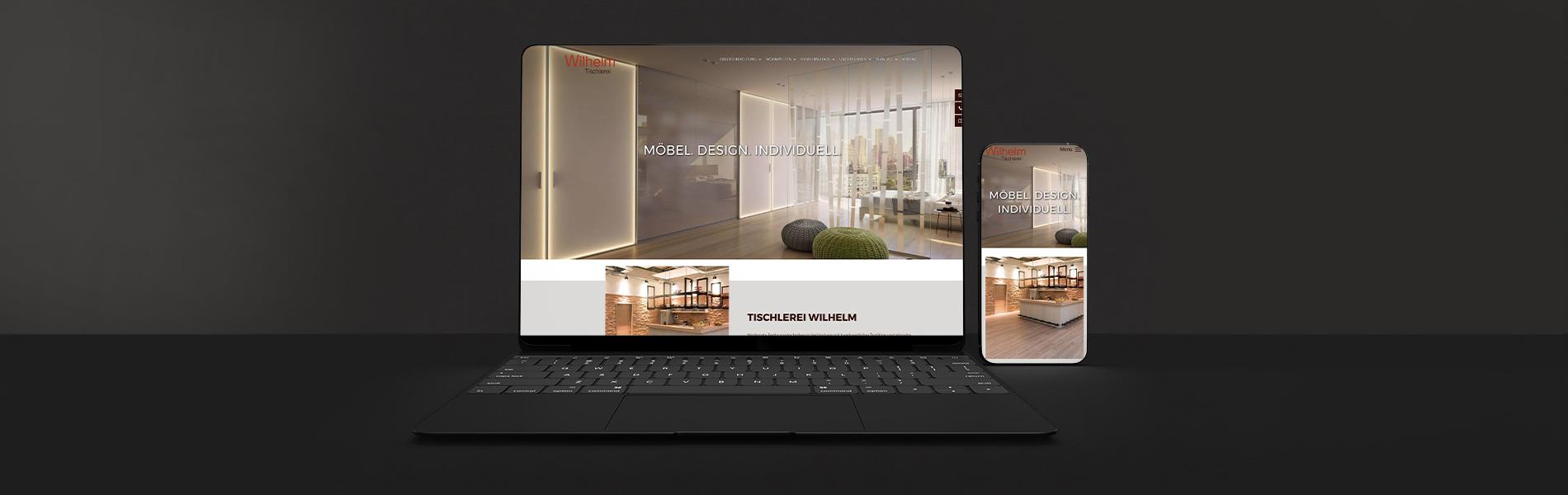 Neuentwicklung Website: Tischlerei Wilhelm