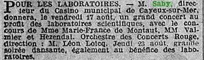 LE MATIN 1923/08/11 (Numéro 12588)
