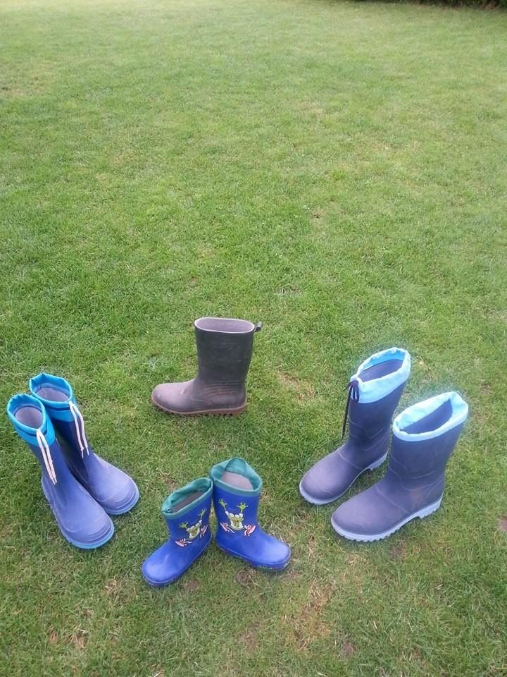 """vorderer Garten- Rasen zum rennen, kicken, einfach Spass haben......""""7 Stiefel"""""""