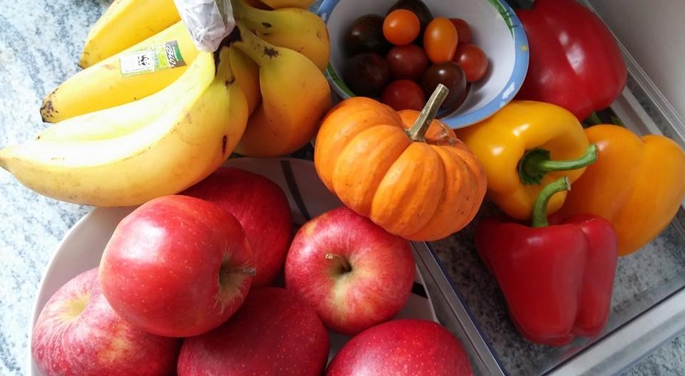 gesunder Snack in Herbstfarben