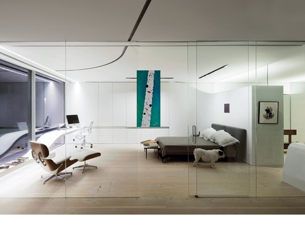 Fredda sensazione - Tecnica mista su tela 120x50x7  opera di Francesco Cannone in ambiente virtuale